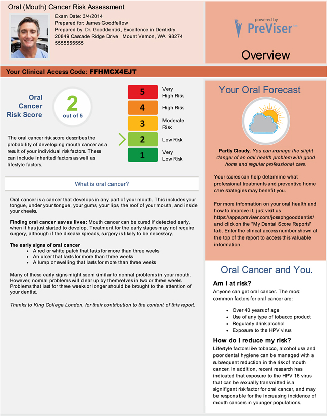 Example of Oral Cancer Report